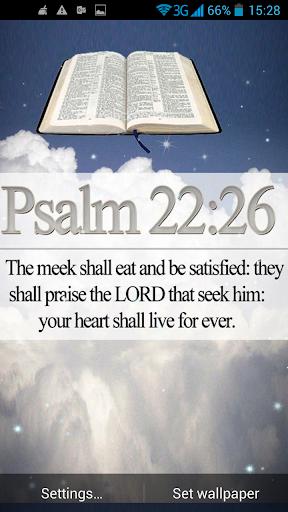 聖書の引用符ライブ壁紙