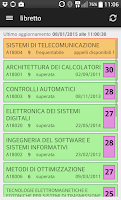 Screenshot of unina2 mobile