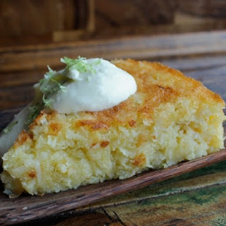 Flourless Bitter Lime Coconut Macaroon Cake with White Chocolate Whipped Cream
