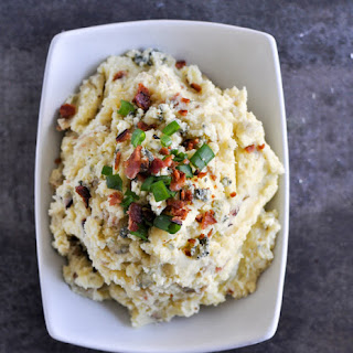 Buttermilk Bacon Blue Smashed Potatoes