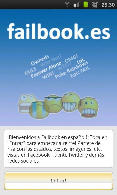 Failbook- screenshot