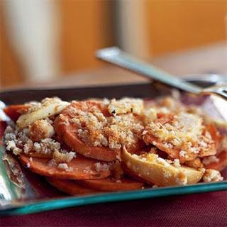 Sweet Potato and Apple Gratin.