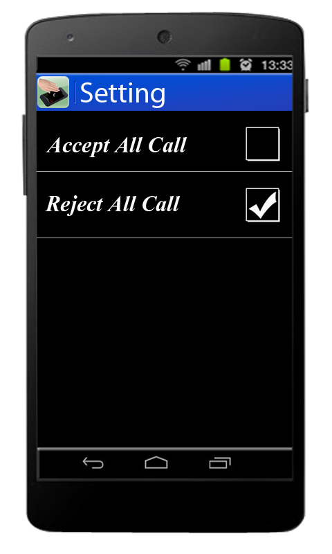 Air Call Receive/Reject- screenshot