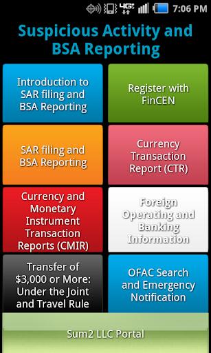 AML SAR Filing BSA Reporting