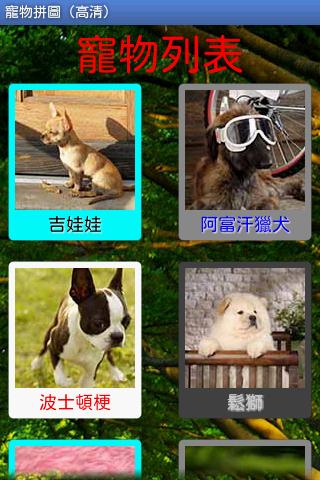 可愛的動物拼圖