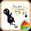 Black cat mew Dodol Theme icon