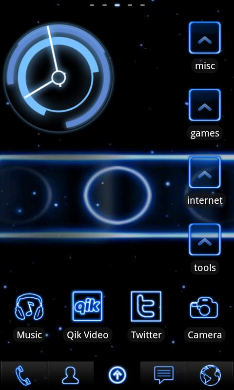 Neon Blue ADW Theme- screenshot