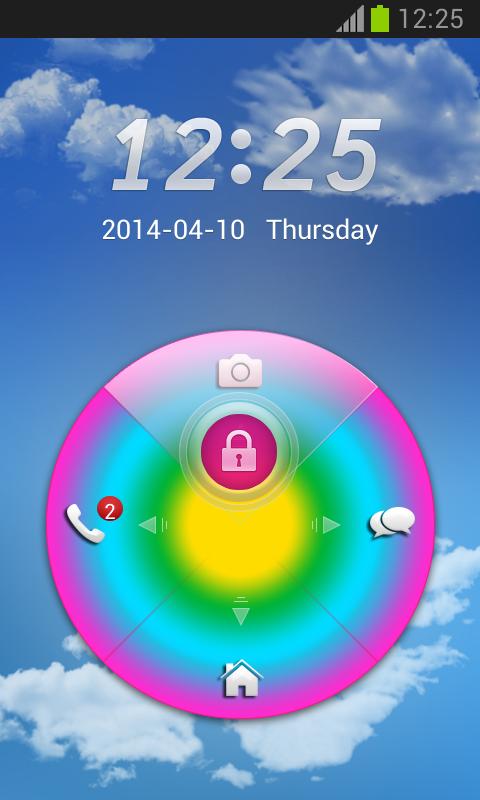 Rainbow Colors GO Locker - screenshot