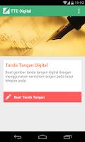 Screenshot of Tanda Tangan Digital