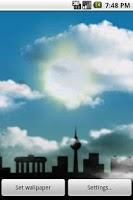 Screenshot of Cloudy Sky Live Wallpaper
