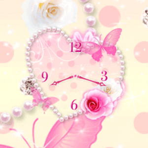 Heart of Rose clock