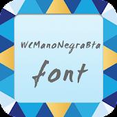 WCManoNegraBta font