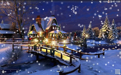 Snow night city live wallpaper android apps on google play - Snow night city wallpaper ...