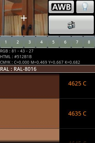 RAL and PANTONE Detector - screenshot
