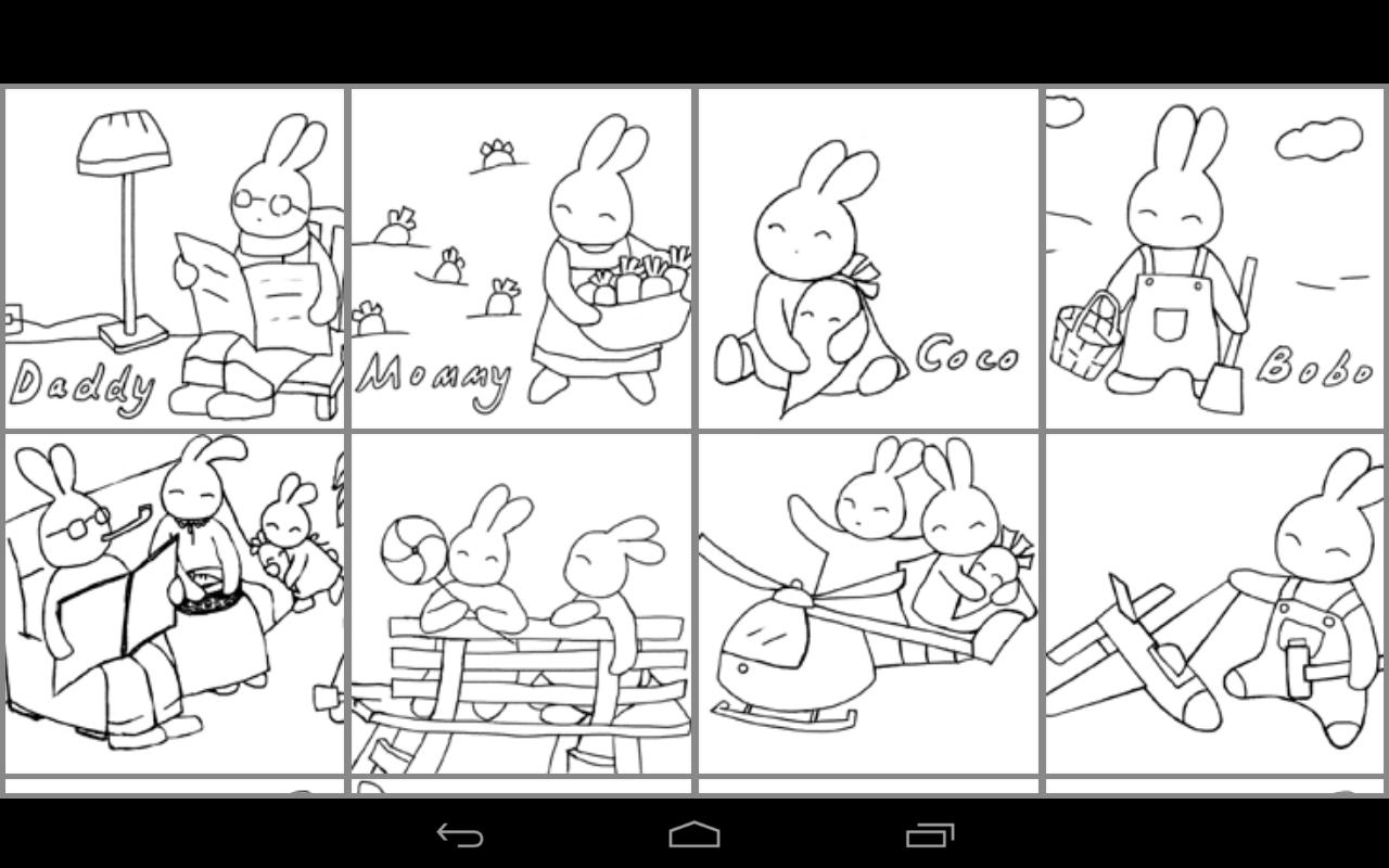 Coloring Doodle - Bunny GO - Android Apps on Google Play