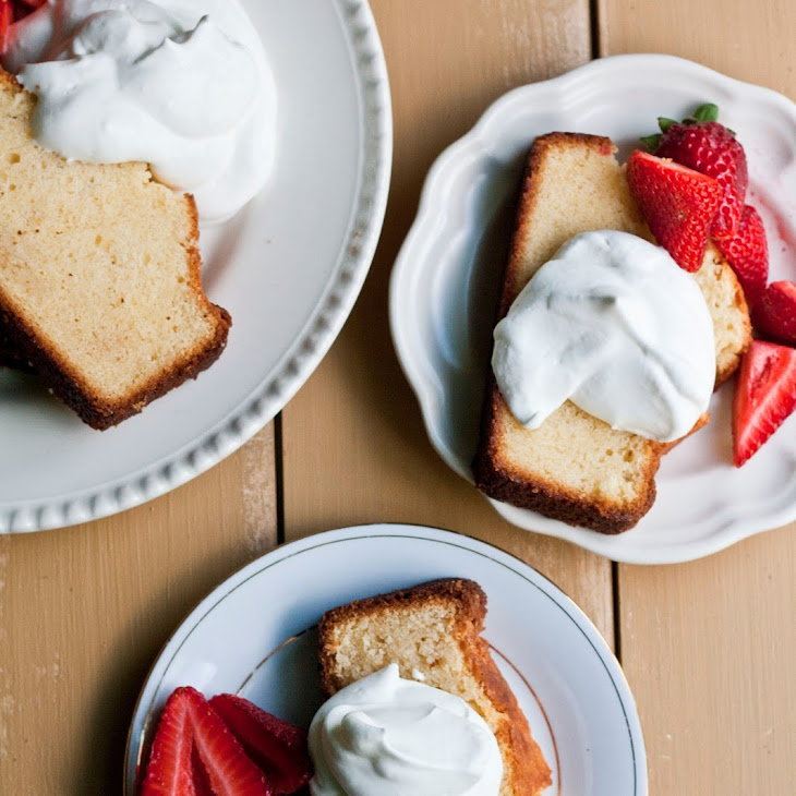 Sweetened Condensed Milk Loaf with Macerated Strawberries and Cream Recipe