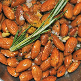 Curry and Rosemary Fried Almonds.