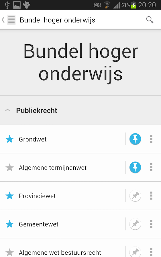 Nederlandse Wet- screenshot
