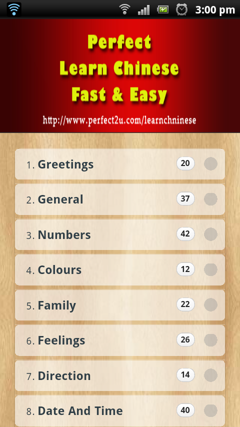 Learn Chinese Fast n Easy - screenshot