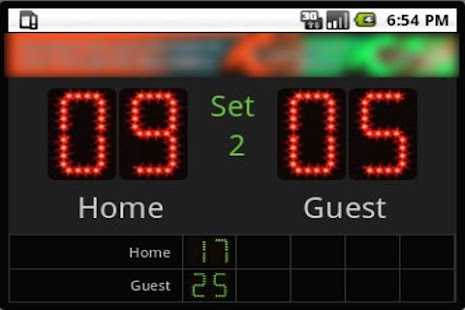 Scoreboard Volley ++ - screenshot thumbnail