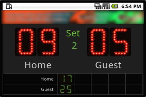 Scoreboard Volley ++ - screenshot
