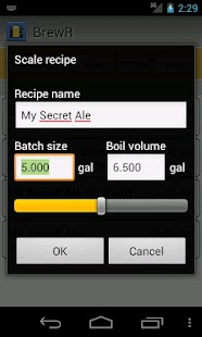BrewR - Beer Recipe Manager- screenshot thumbnail
