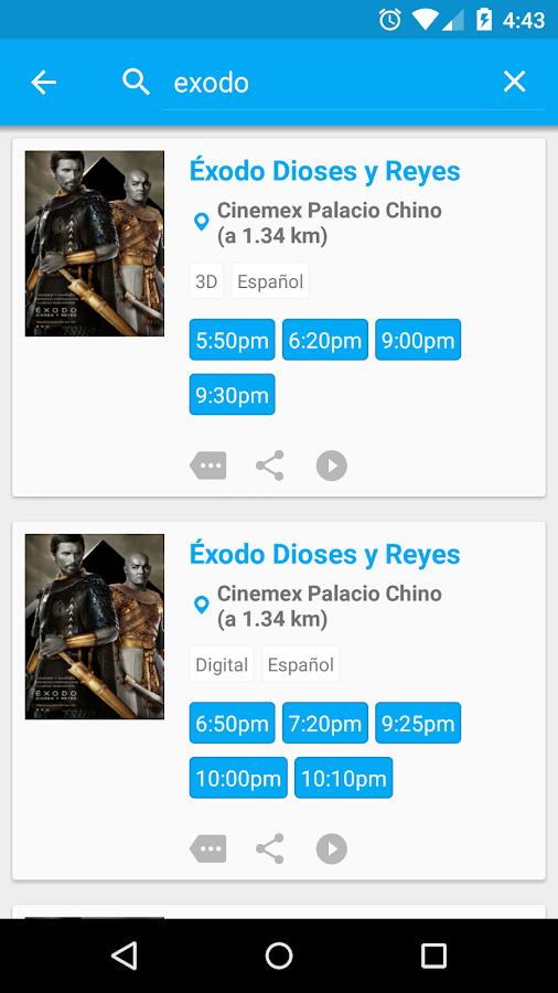 Cine Mapp (Carteleras) - screenshot