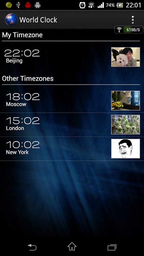 World Clock- screenshot
