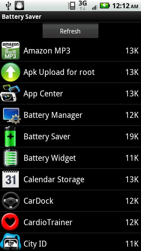 Battergizer Battery Saver- screenshot