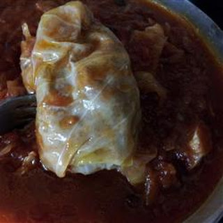 Sweet and Sour Stuffed Cabbage.