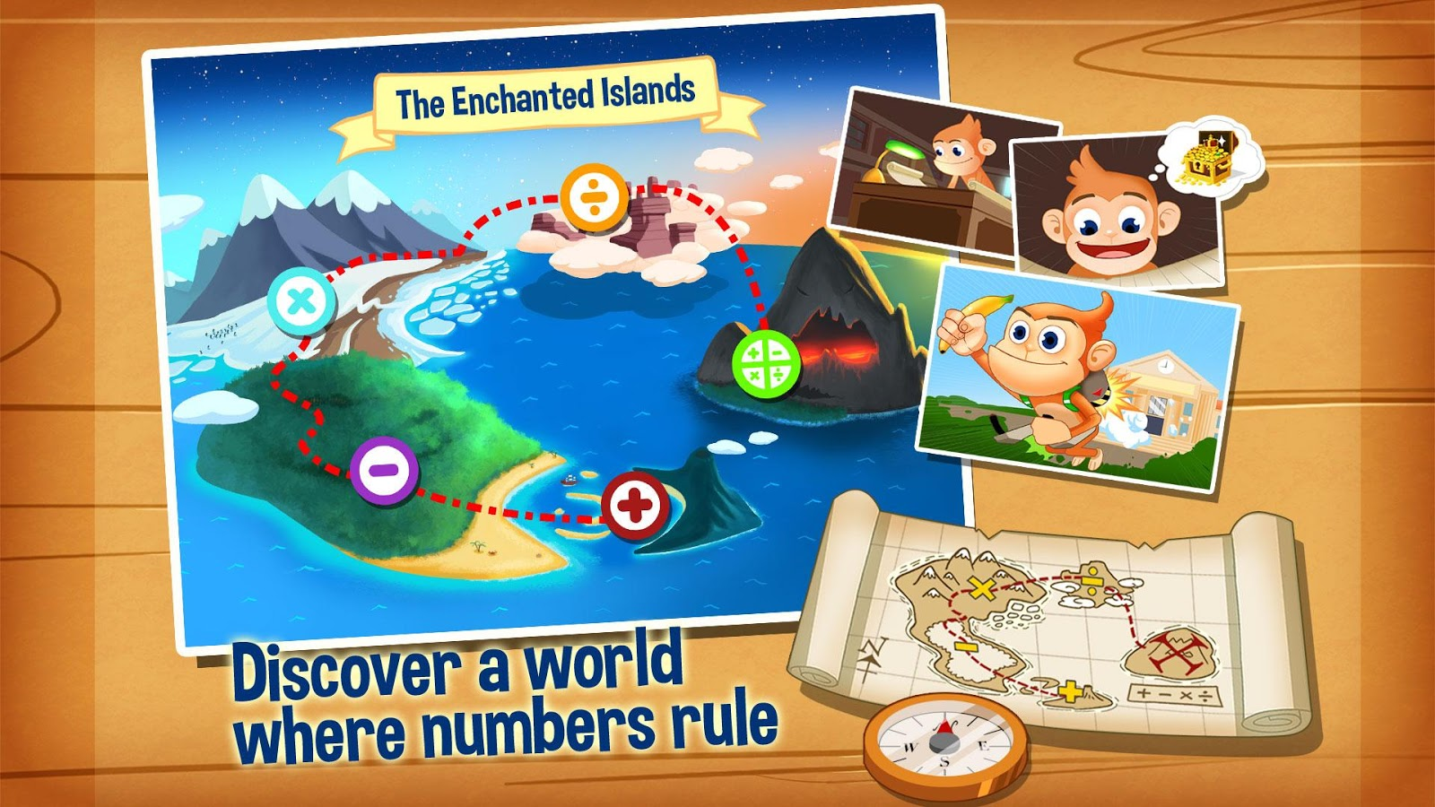 Monkey Math Free - Kids Games- screenshot
