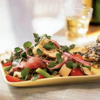 Grilled Steak Salad with Caper Vinaigrette.