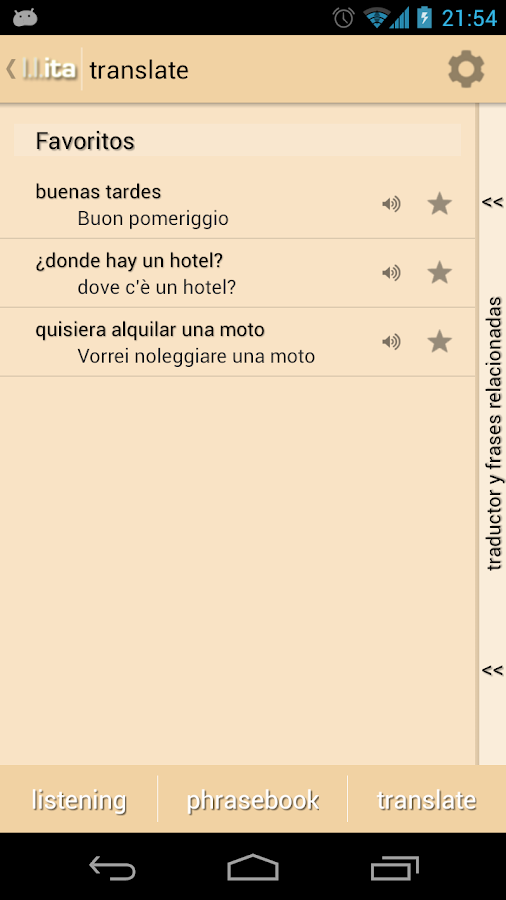 Learn Languages: Italian - screenshot