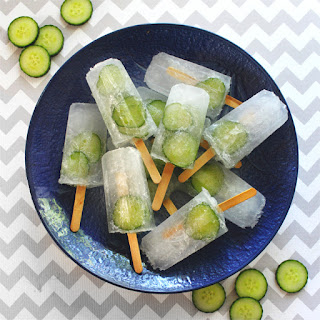 Cucumber Gin & Tonic Popsicles.
