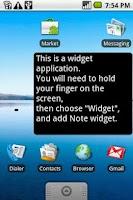 Screenshot of Note (free)