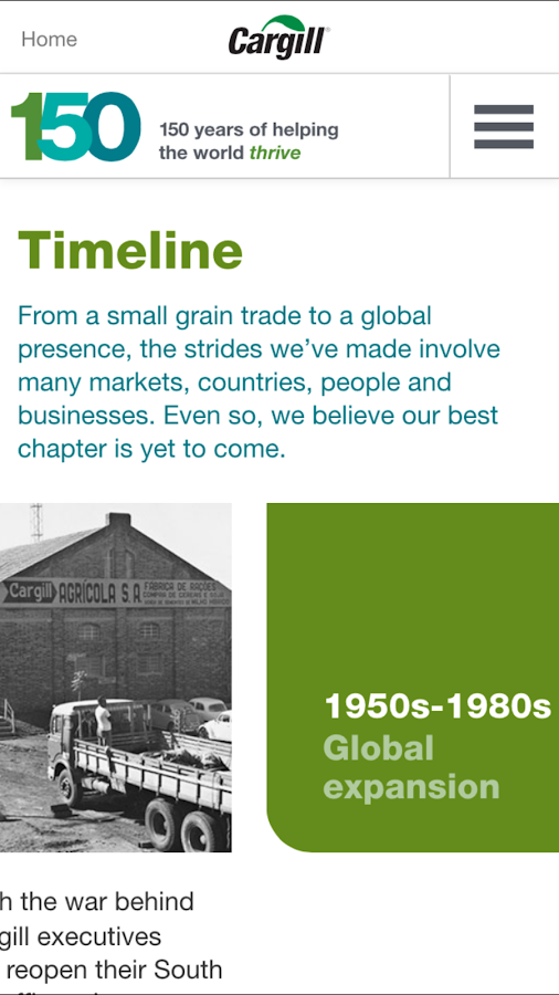 Cargill 150th Anniversary- screenshot