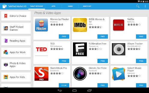Tablified Market - Tablet Apps - screenshot thumbnail