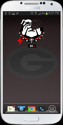 UGA DAWG Battery Widget