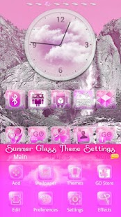 Pink Summer GO Launcher EX - screenshot thumbnail