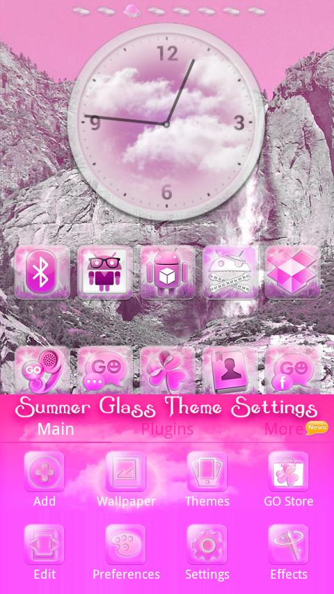 Pink Summer GO Launcher EX - screenshot