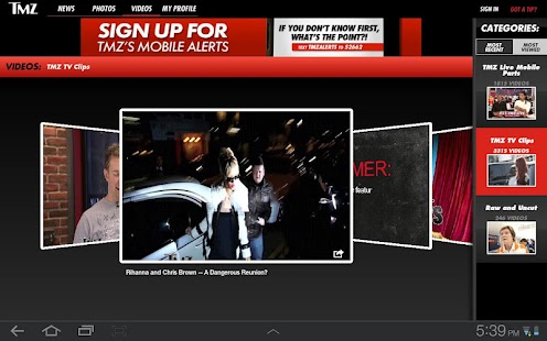 TMZ for Tablets - screenshot thumbnail