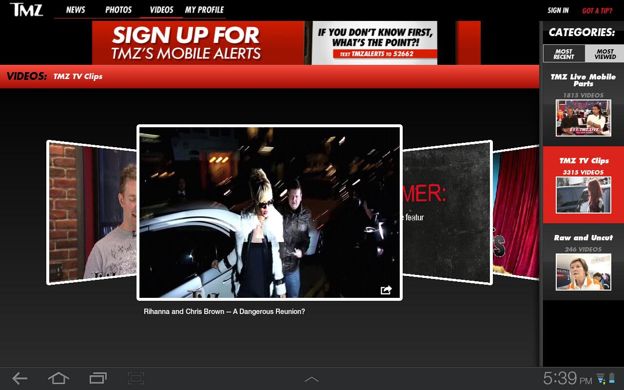 TMZ for Tablets - screenshot