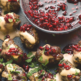 Lamb Koftas With Pomegranate Jam And Tahini