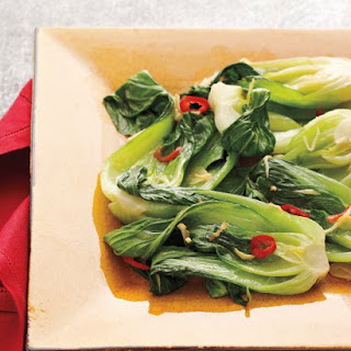 Baby Bok Choy with Chile, Garlic, and Ginger