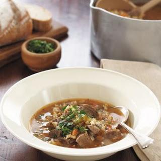 Lamb And Barley Soup.