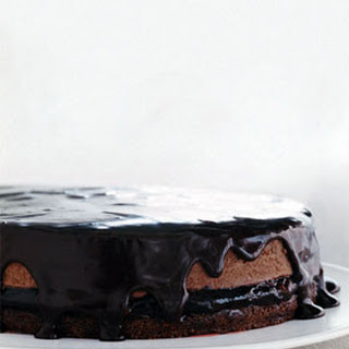 Sour Cherry Chocolate Mousse Cake.