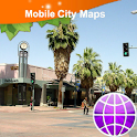 Palm Springs Street Map logo