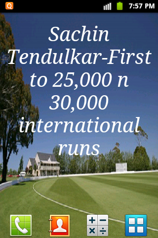 Sachin Facts Live Wallpaper- screenshot