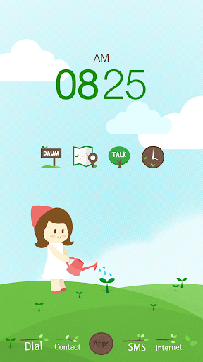 Green Tree Buzz Launcher Theme