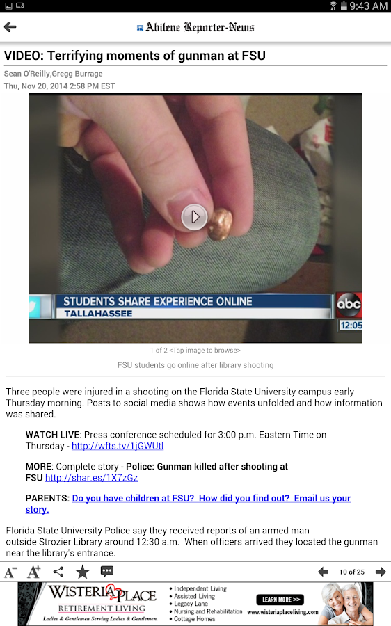 Abilene Reporter-News - screenshot